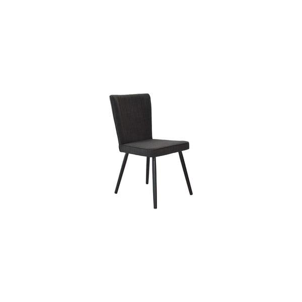 Sada 2 jídelních židlí Nils, černý potah/černé nohy