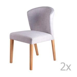 Sada 2 světle šedých jídelních židlí sømcasa Alina