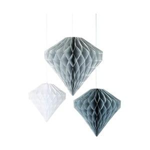Set 3 decorațiuni de agățat Talking Tables Diamond Honeycombs