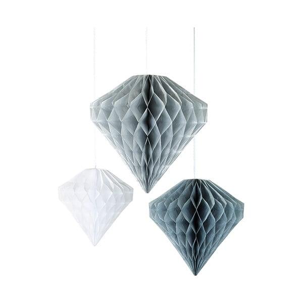 Sada 3 papírových závěsných dekorací Talking Tables Diamond Honeycombs