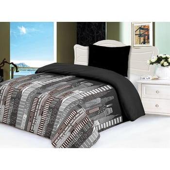 Lenjerie de pat din micropluș My House City, 140 x 200 cm