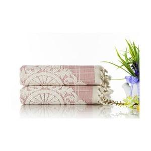 Sada 2ks ručníků Eftelya Pink, 50x90 cm