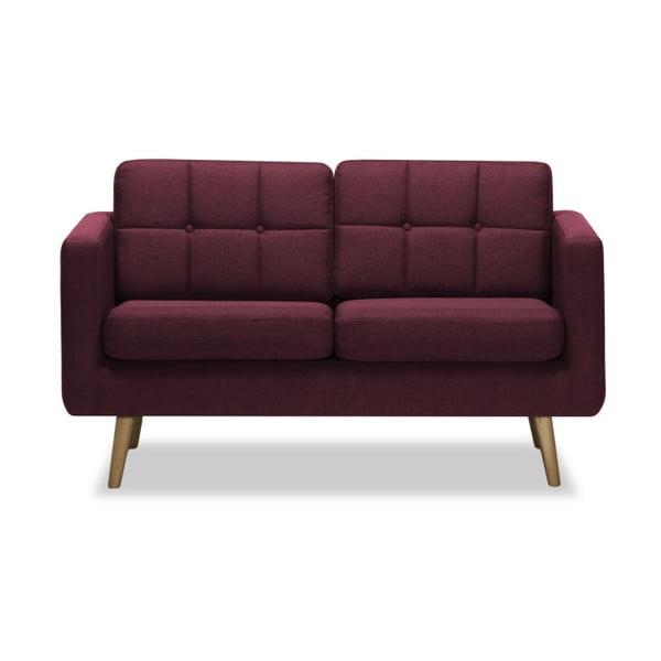 Burgundowa sofa 2-osobowa Vivonita Magnus