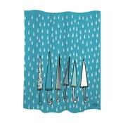 Sprchový závěs Umbrellas Blue