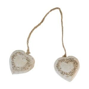 Dekorace Antic Line Double Heart