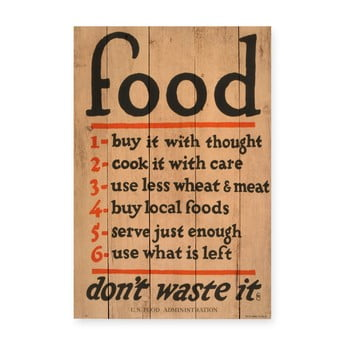 Tablou din lemn de pin Really Nice Things Food, 60 x 40 cm de la Really Nice Things