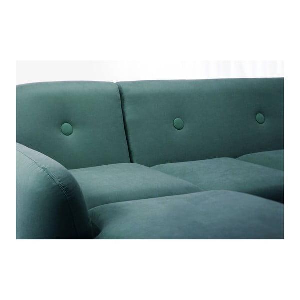 Canapea cu șezlong pe partea stângă Stella, turcoaz