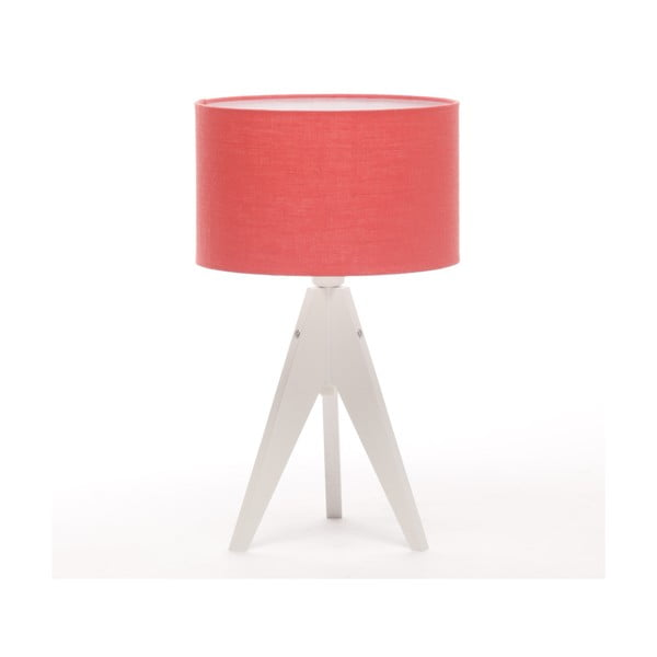 Stolní lampa Arist Cylinder Coral Red/White