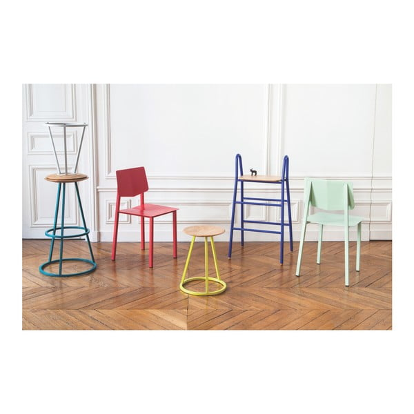Bílá kovová jídelní židle HARTÔ Rosalie
