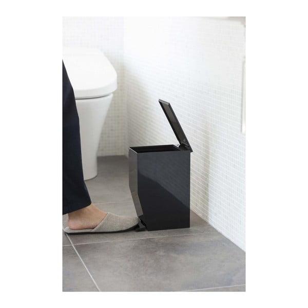 Černý odpadkový koš do koupelny YAMAZAKI,390ml