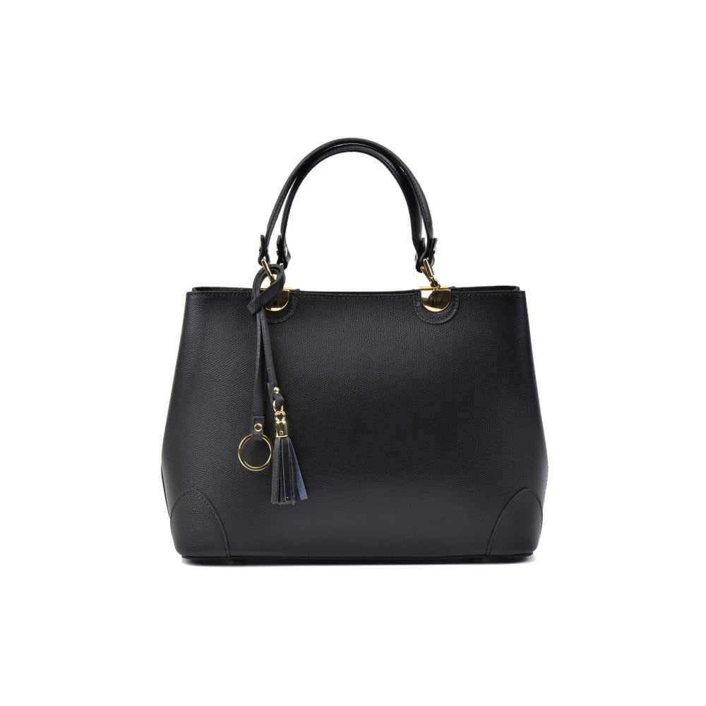 Černá kožená kabelka Isabella Rhea Munda c4996c763b