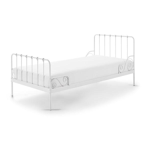 Bílá kovová dětská postel Vipack Alice, 90x200cm