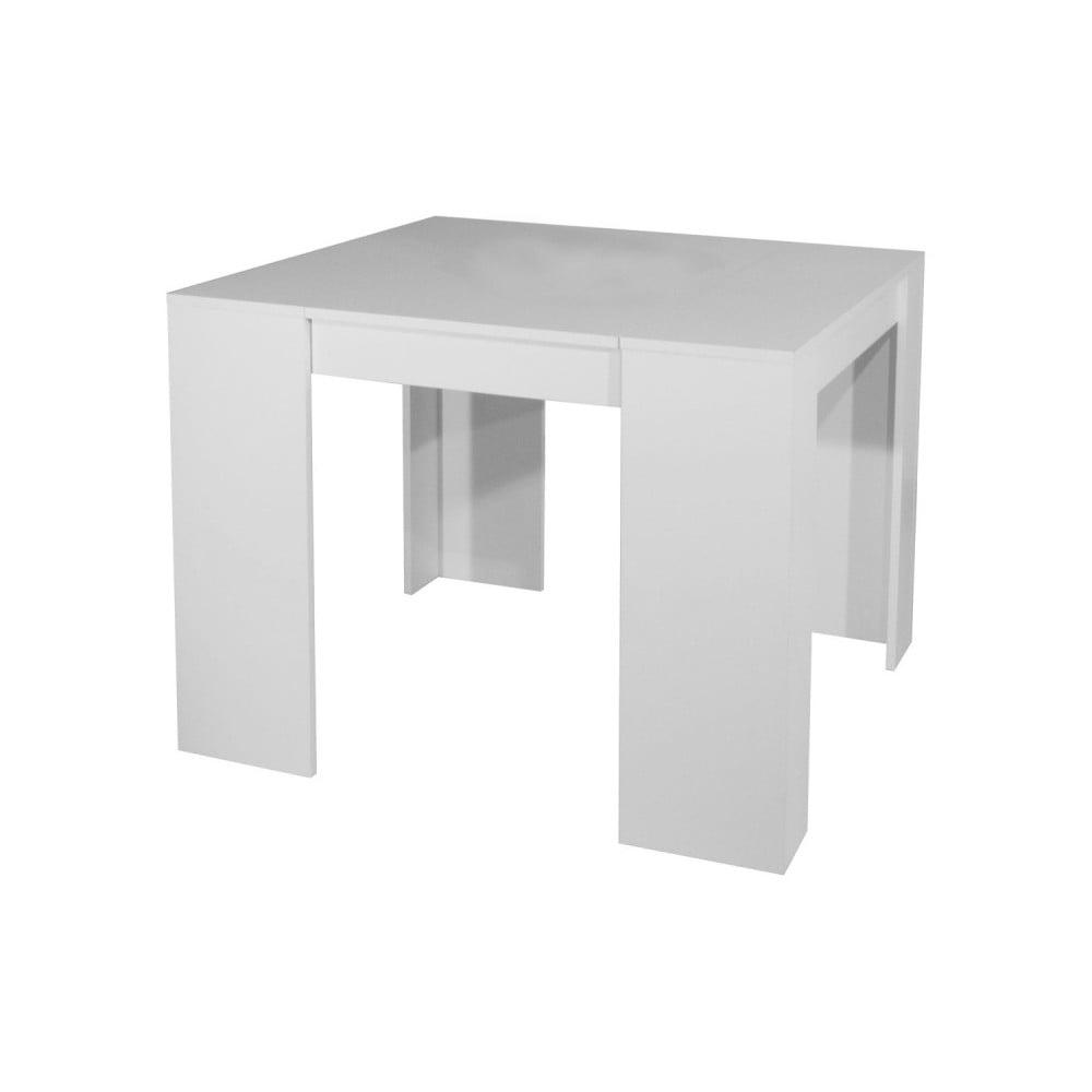 Bílý rozkládací jídelní stůl Symbiosis Luna