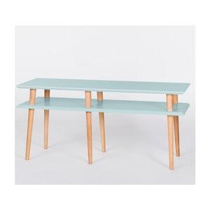 Konferenční stolek Mugo Light Turquoise, 139 cm (šířka) a 45 cm (výška)