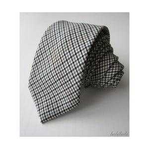 Šedo-černá kravata malé káro