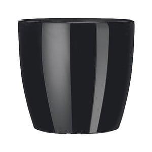 Vysoce odolný květináč Casa Brilliant 16 cm, černý