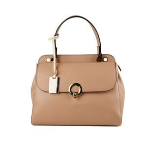 Béžová kožená kabelka Matilde Costa New York