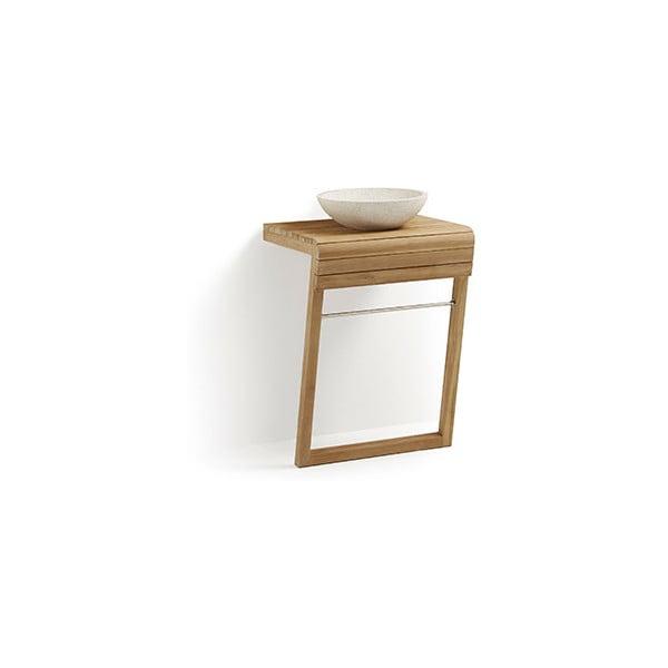 Dulap de baie din lemn de tec cu chiuvetă La Forma, lățime 60 cm