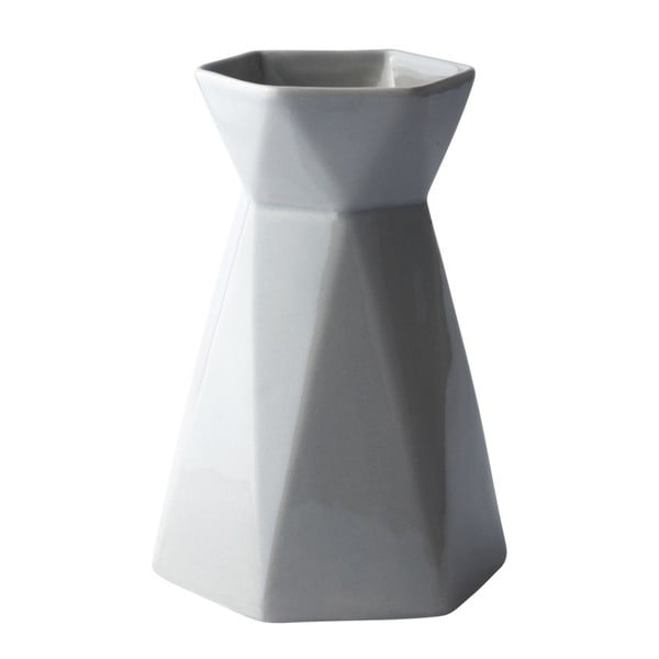 Váza KJ Collection Geometric Grey, 17,9 cm