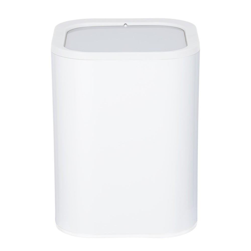 Bílý odpadkový koš do koupelny Wenko Oria, 7 l