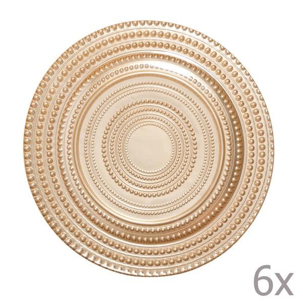 Sada 6 dezertních talířů Pois Oro