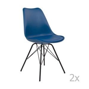 Sada 2 modrých židlí House Nordic Oslo