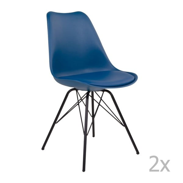 Set 2 scaune House Nordic Oslo, albastru