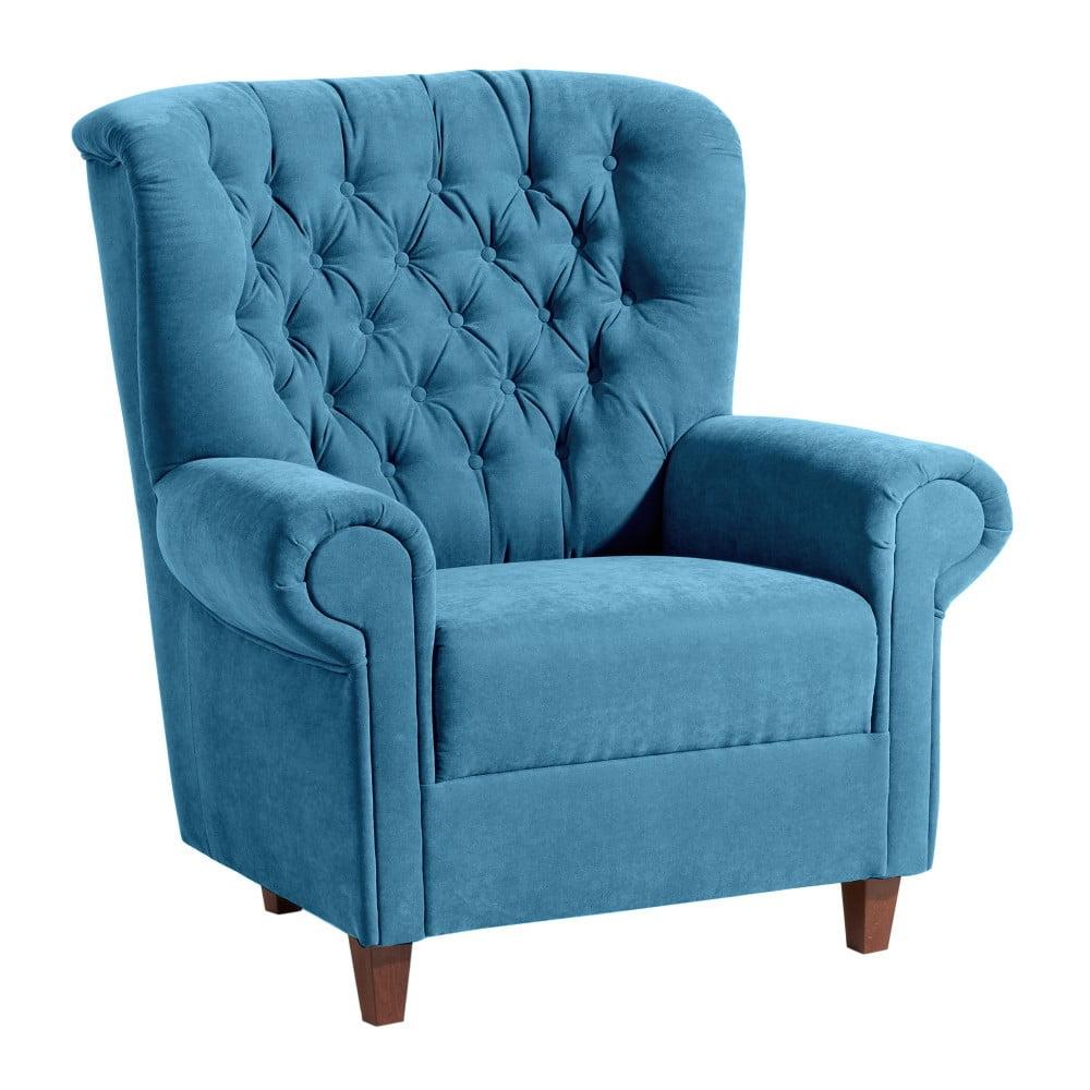 fotoliu max winzer vicky velor turcoaz bonami. Black Bedroom Furniture Sets. Home Design Ideas