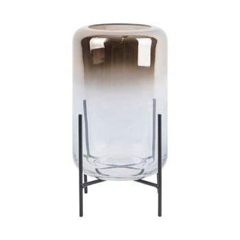 Vază din sticlă PT LIVING Silver Fade, înălțime 23,5 cm