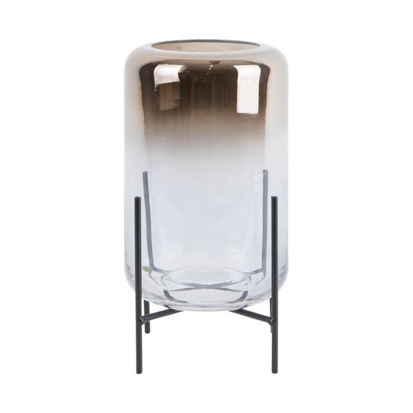 Skleněná váza PT LIVING Silver Fade, výška 23,5 cm