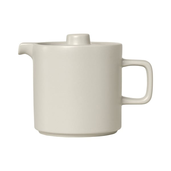 Bílá keramická čajová konvice Blomus Pilar,1l
