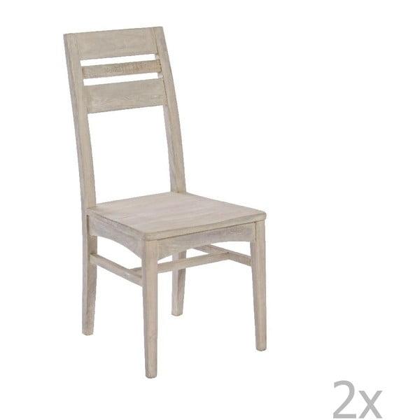 Sada 2 jídelních židlí Bizzotto Country Natural