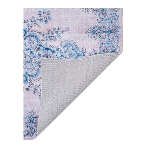 Covor cu rezistență la pete Floorita Sonja Natural Blue, 200 x 290 cm