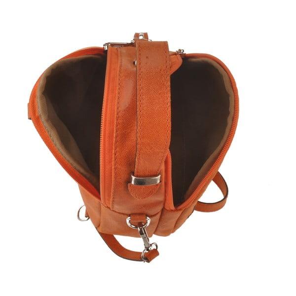 Oranžová kožená kabelka Men