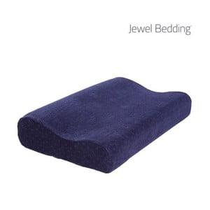 Tmavě modrý polštář z paměťové pěny s povlakem InnovaGoods Jewel Bedding