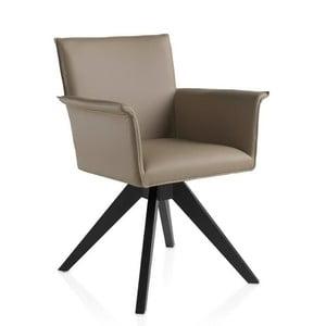Béžová otočná židle Ángel Cerdá Patty