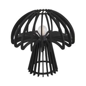 Černá skládací dřevěná stolní lampa Leitmotiv Traditional Mushroom