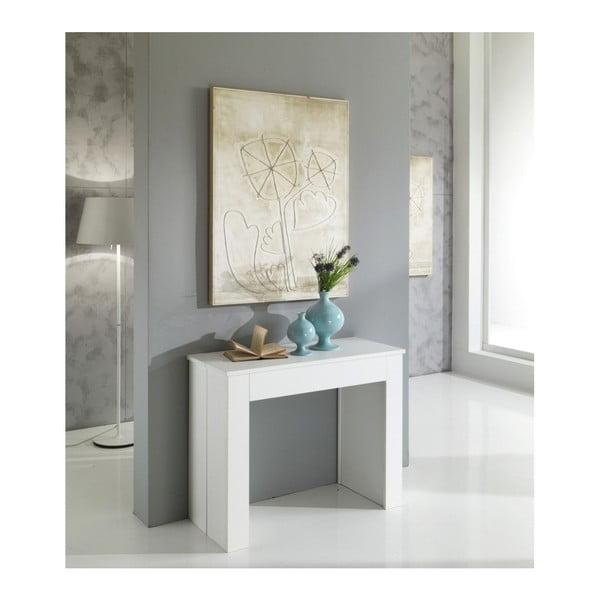 Bílý rozkládací jídelní stůl Design Twist Belize
