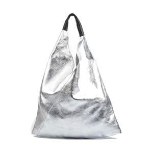 Kožená kabelka ve stříbrné barvě Isabella Rhea Duroto