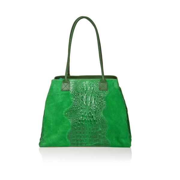 Kožená kabelka Anabela, zelená