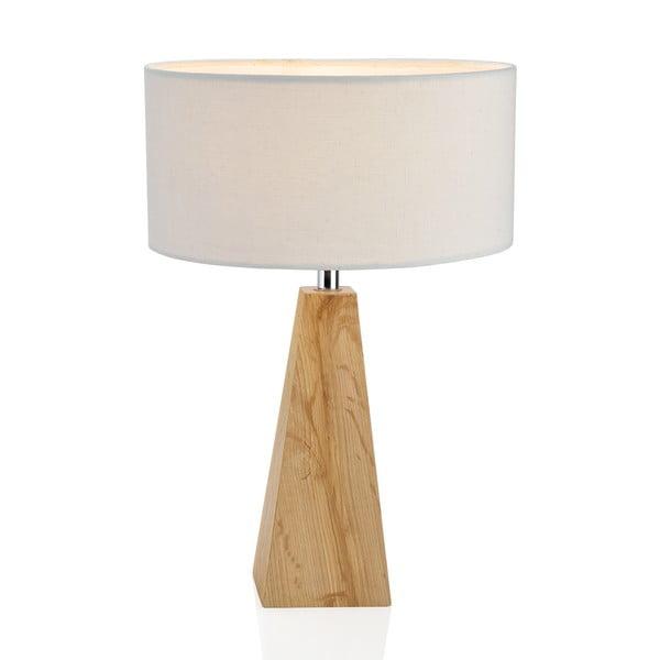 Dřevěná lampa Classy, bílá