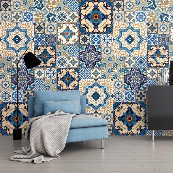 Sada 60 dekorativních samolepek na stěnu Ambiance Toundra, 10 x 10 cm