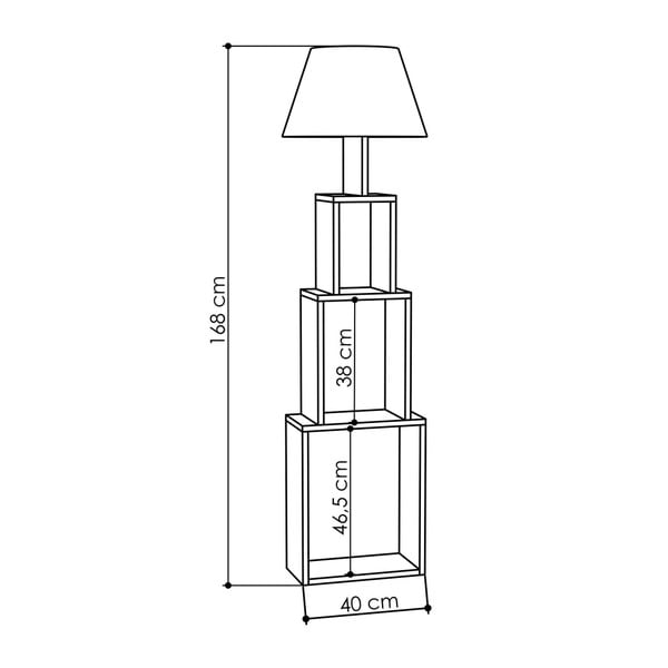 Antracitová volně stojící lampa se žlutým stínítkem Homitis Tower