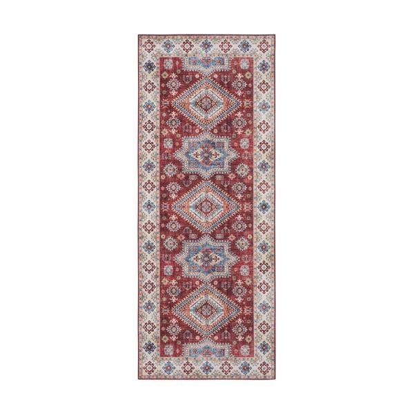 Covor Nouristan Gratia, 80 x 200 cm, roșu
