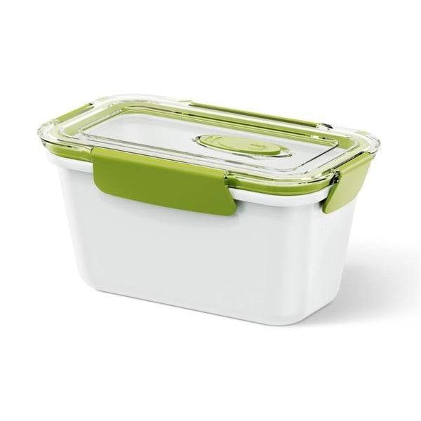 Box na jídlo Bento Box white/green, 0,9 l
