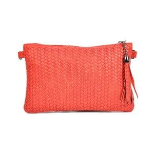 Červená kožená kabelka Mangotti Bags Marina