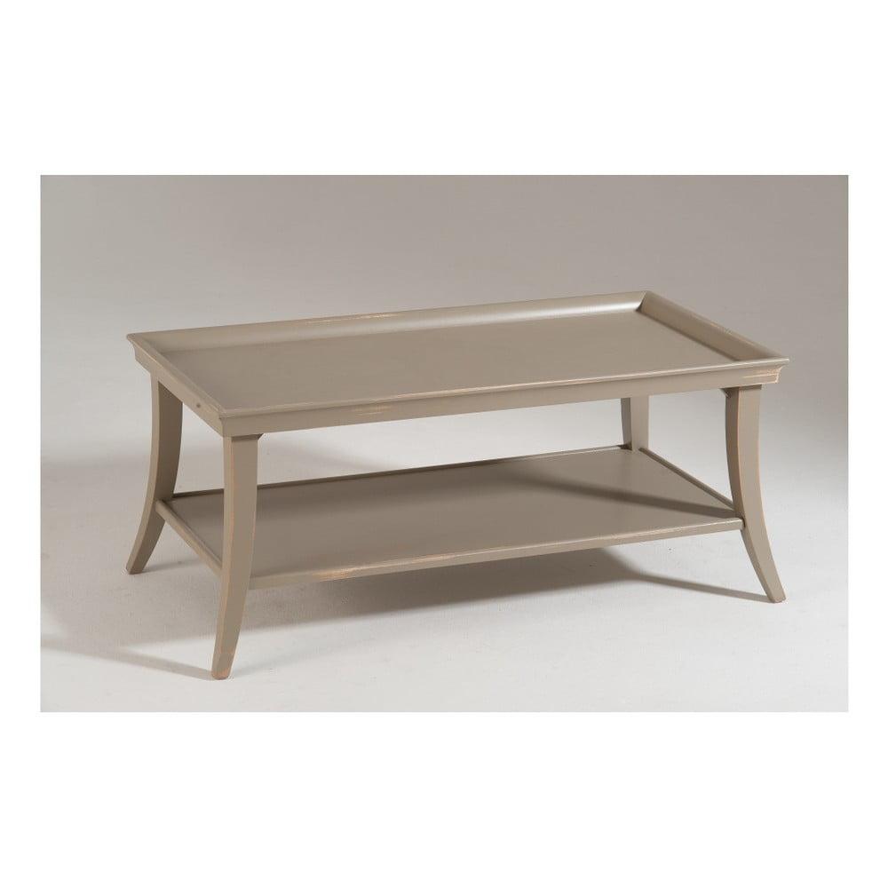 Béžový dřevěný konferenční stolek Castagnetti