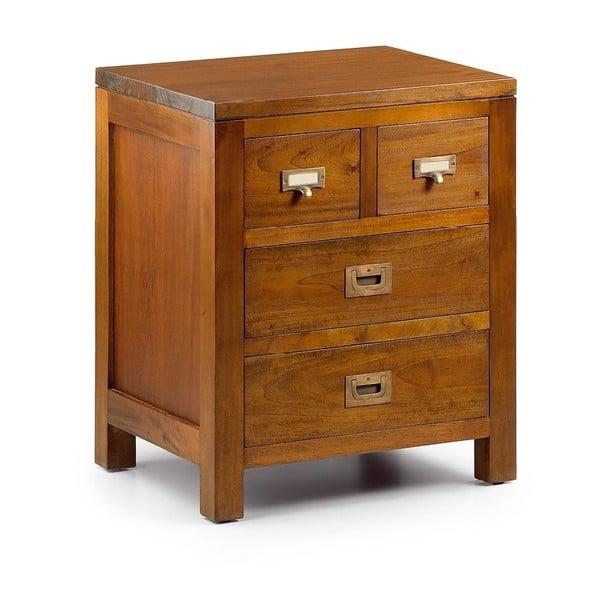 Noční stolek z mahagonového dřeva se 4 zásuvkami Moycor Flamingo