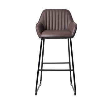 Scaun bar tapițat Unique Furniture Brooks, maro închis