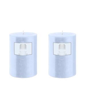 Set dvou svíček 10 cm, modré, 48 hodin hoření